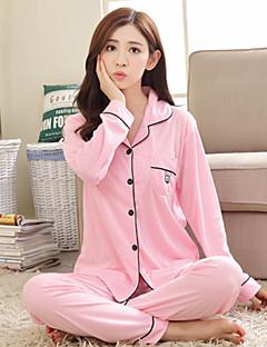 Naisten Puuvilla Pyjaman-, Naisten