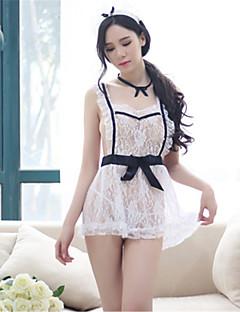 여성용 레이스 란제리 울트라 섹시 유니폼 & 청삼 잠옷,섹시 레이스 패치 워크 스판덱스