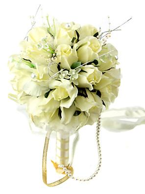 Esküvői virágok Kör Rózsák Csokrok Esküvő / Parti /Estélyi Selyem Sárga