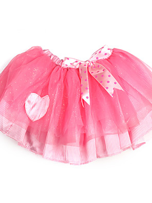 brilhando rosa fita saia de tule com forro de menina