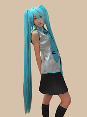 Vocaloid Hatsune Miku İki Atkuyruğu Cosplay Peruğu