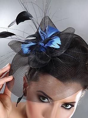 Mulheres Penas / Tule Capacete-Casamento / Ocasião Especial Fascinador