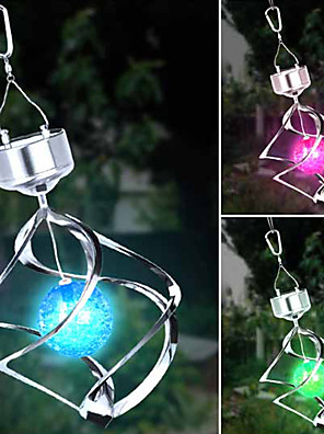 Solar LED Colour Changing Saturn Wind Spinner Opknoping Spiral Light