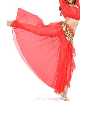 ריקוד בטן חצאיות בגדי ריקוד נשים אימון / ביצועים שיפון חזית מפוצלת חלק 1 נפול חצאית