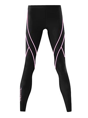 SANTIC® Segunda Pele para Ciclismo Mulheres Moto Respirável / Mantenha Quente / Tapete 3D Meia-calça / camadas de base / Leggings / Fundos