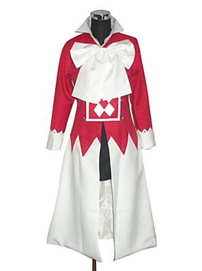 קיבל השראה מ Pandora Hearts Alice אנימה תחפושות קוספליי חליפות קוספליי טלאים לבן / אדום שרוולים ארוכים גלימה / עניבה