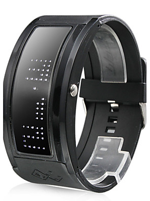 Zwart LED-Polshorloge Met 10-Karakter Weergave