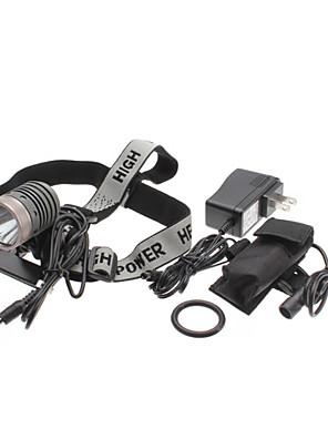 uniquefire HD003 5-mode CREE XM-l t6 vedl dobíjecí světlometů sadu (10w, 1000lm, baterie + nabíječka)
