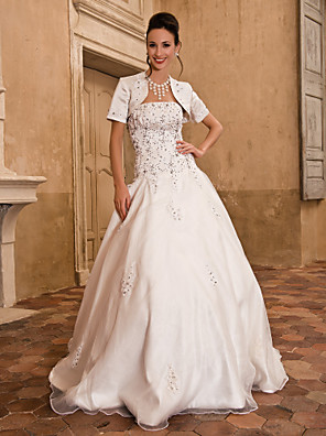 Lanting Bride® De Baile Pequeno / Tamanhos Grandes Vestido de Noiva - Clássico e atemporal / Elegante e LuxuosoVestidos de Casamento com
