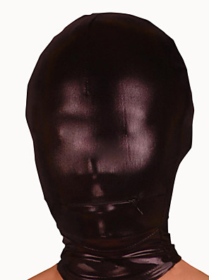 Maska Ninja Zentai Cosplay kostýmy Černá Jednobarevné Maska elastan Unisex Halloween / Vánoce