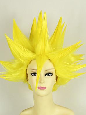 פאות קוספליי Dragon Ball Vegeta צהוב קצרה אנימה פאות קוספליי 35 CM סיבים עמידים לחום זכר