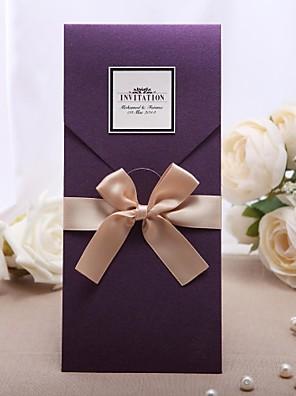 Személyre szabott Felöltő & Zseb Esküvői Meghívók Meghívók-20 Darab / készlet Klasszikus stílus Gyöngy-papír 21,5*11,5 cm Masnik