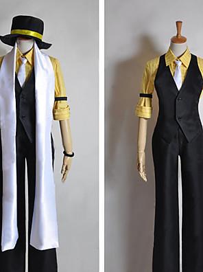 Inspirado por Vocaloid Kagamine Len Vídeo Jogo Cosplay Costumes Ternos de Cosplay Patchwork Preto Meia-MangaColete / Camisa / Calças /