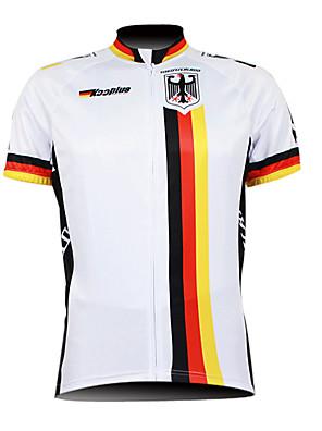 KOOPLUS® חולצת ג'רסי לרכיבה לגברים שרוול קצר אופניים נושם / רוכסן עמיד למים / רוכסן קדמי / לביש ג'רזי / צמרות 100% פוליאסטר דגל מדינה