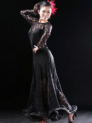ריקודים סלוניים שמלות בגדי ריקוד נשים אימון תחרה / ויסקוזה טבעי