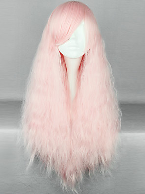 Lolita Wigs Sweet Lolita Lolita Dlouhé Růžová Lolita Paruky 70 CM Cosplay Paruky Jednobarevné Paruka Pro Dámské