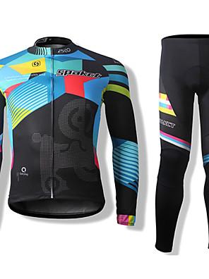 SPAKCT® חולצה וטייץ לרכיבה יוניסקס שרוול ארוך אופניים נושם / שמור על חום הגוף / ייבוש מהיר / עמיד / רוכסן קדמי / עמיד לאבק / נגד חרקים