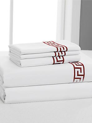 eenvoudig&opulence® vlakke plaat, 400 tc 100% katoen effen wit