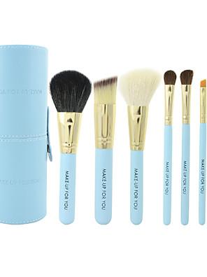Make-up For You® 7pcs Goat/Pony/Horse hair Makeup Brushes set Portable/Limits bacteria  blue concealer/powder/blush brush eyeshadow/brow brush