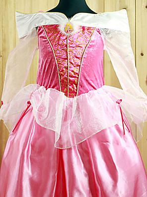 Fantasias de Cosplay / Festa a Fantasia Princesa Festival/Celebração Trajes da Noite das Bruxas Branco / Rosa Cor Única / Rendas Vestido