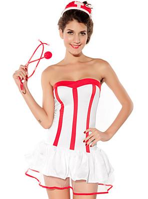 Cosplay Kostýmy Vánoční santa obleky Festival/Svátek Halloweenské kostýmy Patchwork Šaty / Vlasové ozdoby Halloween / Karneval / Nový rok