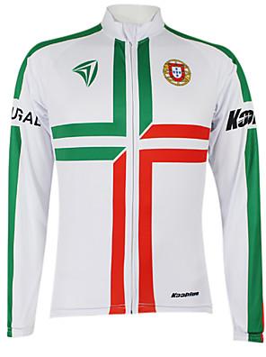 KOOPLUS® Camisa para Ciclismo Mulheres / Homens / Unissexo Manga Comprida MotoSecagem Rápida / A Prova de Vento / Zíper á Prova-de-Água /