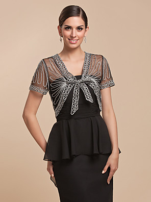 Nice Short SleeveTulle With Lace Jacket (More Colors)