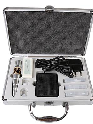 dragonhawk® permanent tatovering makeup øjenbryn kits røde Dragon maskine nåle tips case caps& fodpedal
