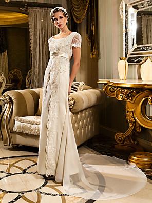 Lanting Bride® Tubinho Pequeno / Tamanhos Grandes Vestido de Noiva - Clássico e atemporal / Glamouroso e DramáticoEstilos Rendados /