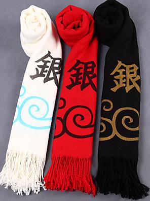 אביזרים נוספים קיבל השראה מ Gintama Gintoki Sakata אנימה אביזרי קוספליי צעיף לבן / שחור / אדום פוליאסטר / צמר זכר