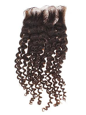"""12 """"100% humano do cabelo Kinky Curly Natural Preto pedaço de cabelo"""