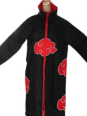 Inspirovaný Naruto Akatsuki Anime Cosplay kostýmy Cosplay šaty Tisk Czarny / Czerwony Dlouhé rukávy Přehoz