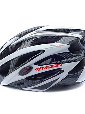 LUA Ciclismo Branco + Preto PC + EPS 25 Vents MTB capacete protetor