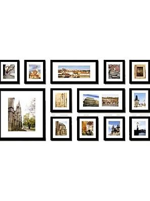zwart galerij collage fotolijsten, set van 13