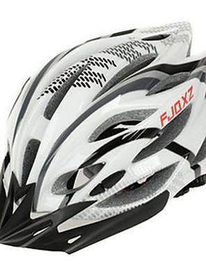FJQXZ Unisex Venkovní PC + EPS 22 Vents Black + White Cyklistika Hlemets