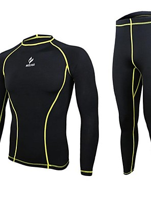 Arsuxeo® שכבת בסיס לרכיבה לגברים שרוול ארוך אופניים נושם / ייבוש מהיר / עיצוב אנטומי / דחיסהשכבות בסיס / Suit דחיסה / טייץ רכיבה על