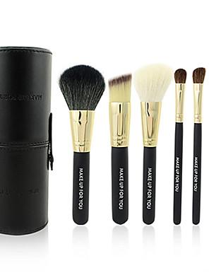 Make-up For You® 7pcs Makeup Brushes set Goat/Wool/Pony/Horse Hair  Limits bacteria/Portable Black Blush/Eyeshadow/Brow Brush Kit