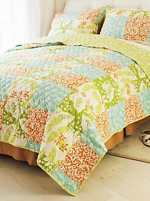 huani® quilt sæt, 3 dele 100% land bomuld style checker mønster farverige forår
