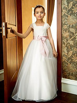 ערב רישמי / מסיבת החתונה / חופשה שמלה גזרת A מרובע באורך הקרסול אורגנזה עם