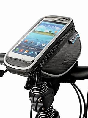 ROSWHEEL® תיק אופניים 1.5Lטלפון נייד תיק / תיקים לכידון האופניים עמיד לאבק / מסך מגע / חסין זעזועים תיק אופנייםעור PU / פוליאסטר / פי וי