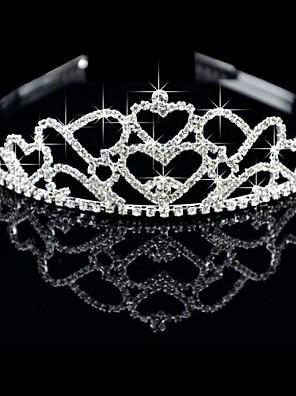 Aleación preciosa con Checa Rhinestones Wedding Tiara