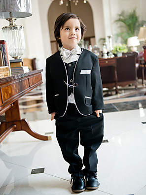 Směs polyesteru a bavlny Oblek pro mládence - 5 Pieces Obsahuje sako / Tričko / Vesta / Kalhoty / Motýlek