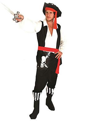 תחפושות קוספליי / תחפושת למסיבה פיראט פסטיבל/חג תחפושות ליל כל הקדושים אדום ושחור טלאים עליון / מכנסיים / חגורה / כובעהאלווין (ליל כל