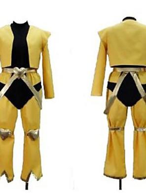 קיבל השראה מ הרפתקאות ביזאריות של ז'וז'ו Kotori Minami אנימה תחפושות קוספליי חליפות קוספליי טלאים צהוב קצרעליון / מכנסיים / חגורה / מגני