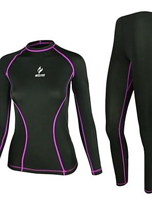 Calça com Camisa para Ciclismo Mulheres Manga Comprida MotoRespirável / Secagem Rápida / Design Anatômico / Resistente Raios Ultravioleta