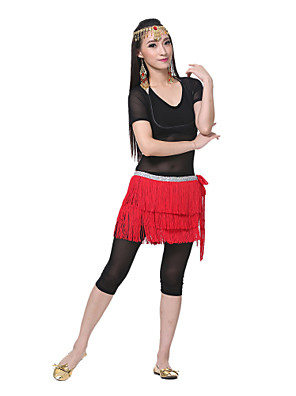 ריקוד בטן חגורה בגדי ריקוד נשים ביצועים נצנצים
