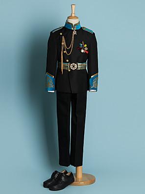 Poliészter Gyűrűhordozó öltöny - 4 Darabok Tartalmazza Zakó / Ing / Nadrágok / Övkendő