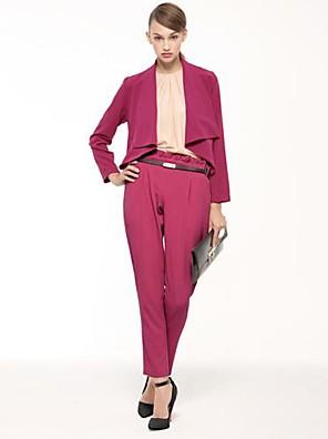 JOANNE KITTEN  Women's Ruffle Collar Long Sleeve Solid Color Overcoat