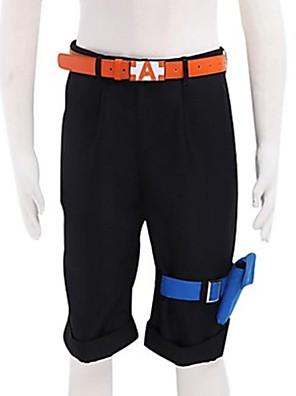 קיבל השראה מ One Piece Portgas D. Ace אנימה תחפושות קוספליי חולצות קוספליי / תחתון אחיד שחור מכנסיים קצרים / חגורה / כיס