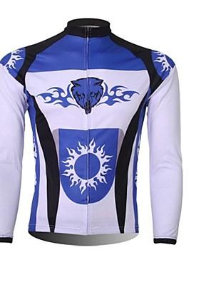 XINTOWN® חולצת ג'רסי לרכיבה לגברים שרוול ארוך אופניים שמור על חום הגוף / ייבוש מהיר / עמיד אולטרה סגול / רוכסן קדמי / עמיד לאבק / לביש